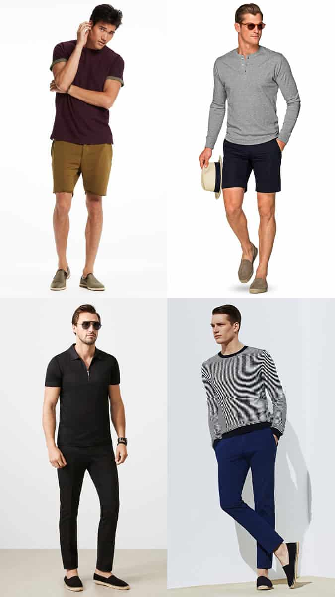 Men's Summer Espadrilles Outfit Inspiration Lookbook
