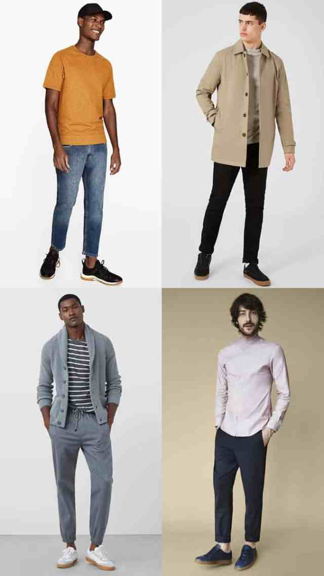 Men's Gum-Sole Trainers/Sneakers Summer Outfit Inspiration Lookbook