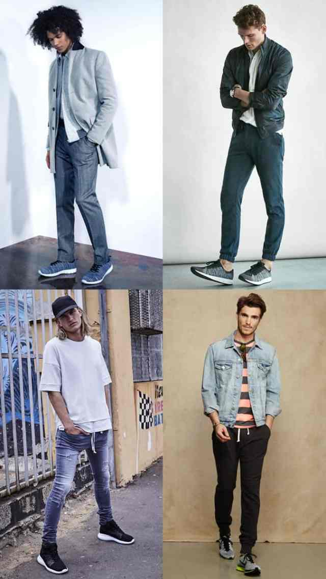 Men's Knitted Trainers/Sneakers Summer Outfit Inspiration Lookbook