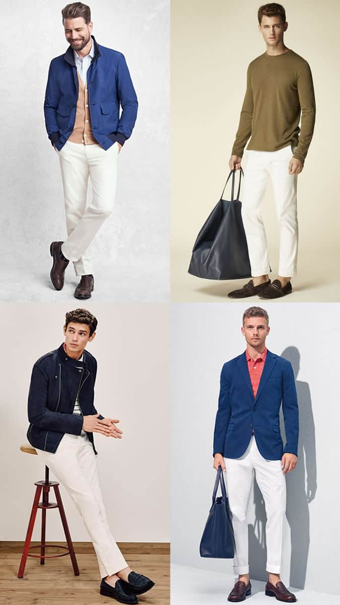 Lookbook Inspiration pour pantalons blancs pour hommes
