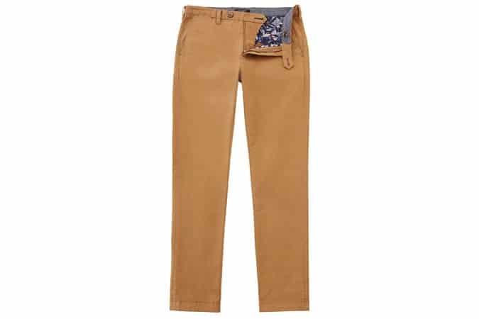 Ted Baker - Pantalon chino en coton effilé Tapcor