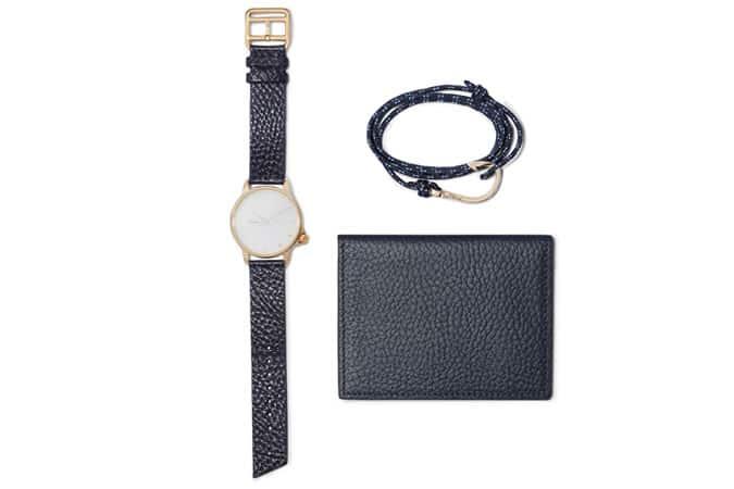Ensemble montre, bracelet et portefeuille Miansai
