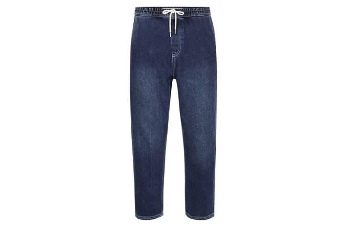 Pantalon de jogging en denim bleu Topman