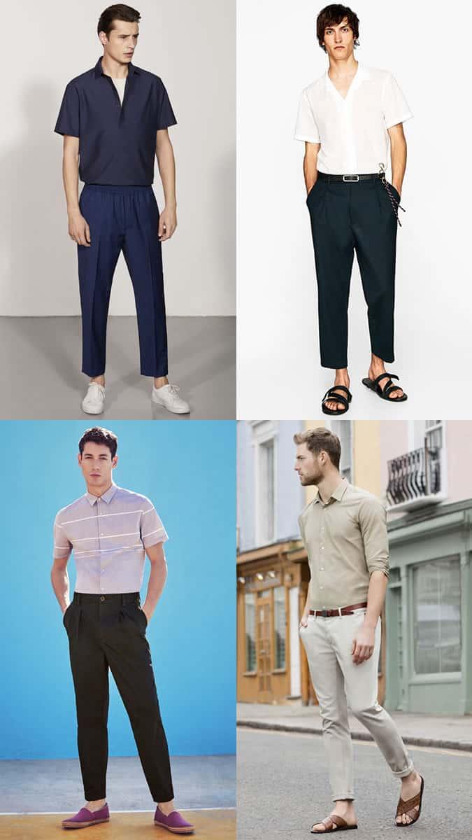 Niché dans des chemises avec un pantalon - tendance mode masculine été 2018