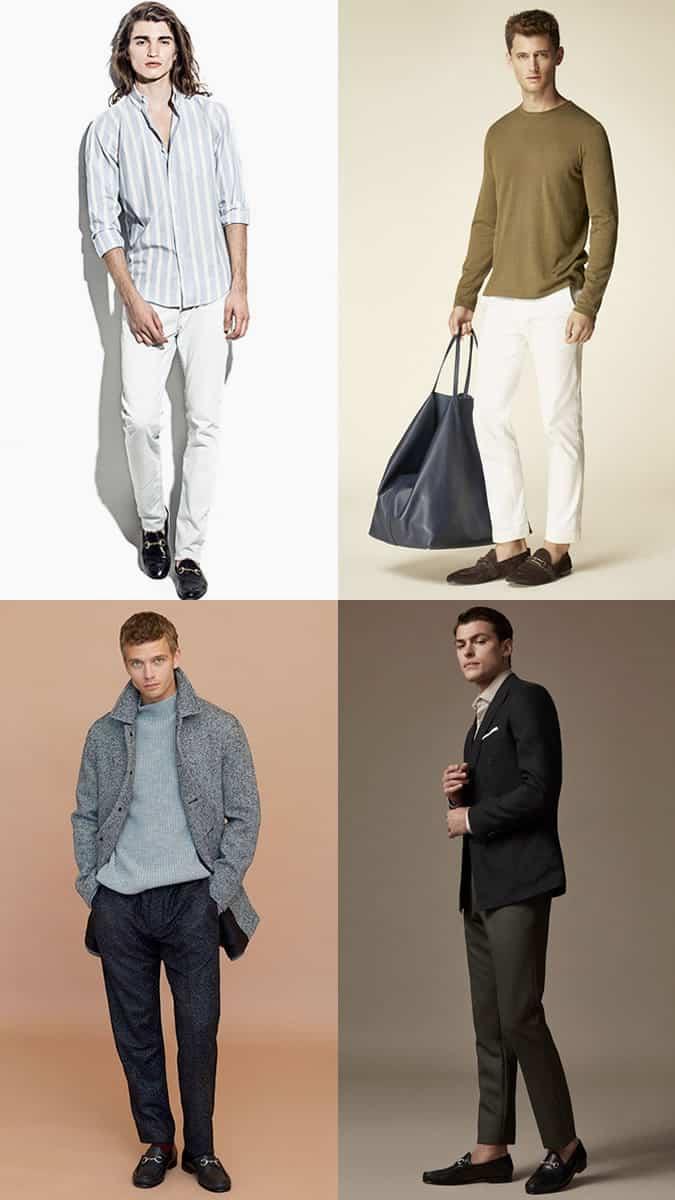 Mocassins Horsebit pour hommes Mode et style Inspiration Lookbook