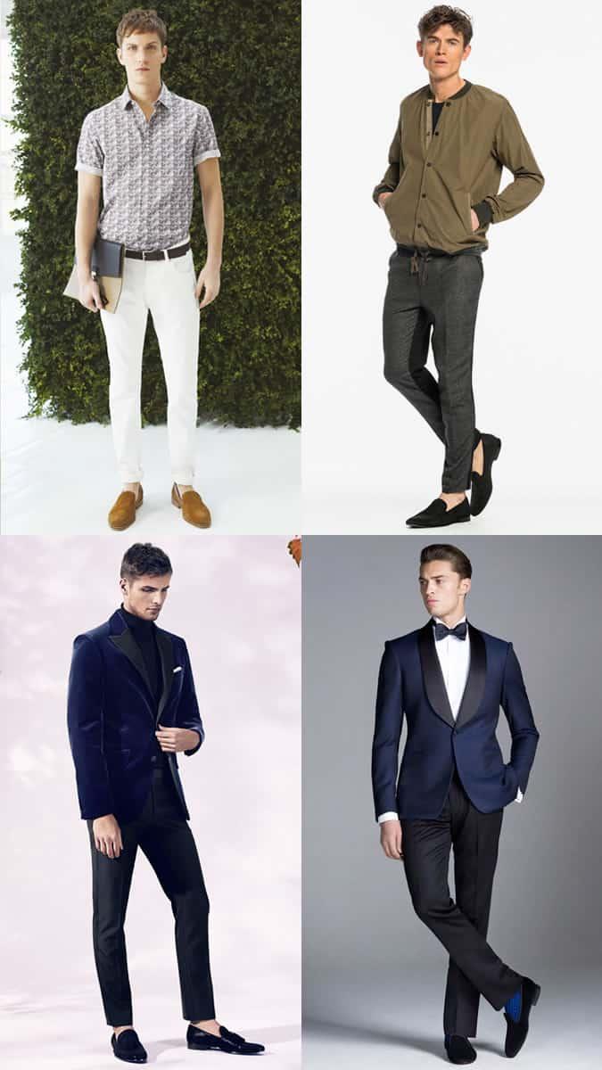 Mocassins pantoufles pour hommes Mode et style Inspiration Lookbook
