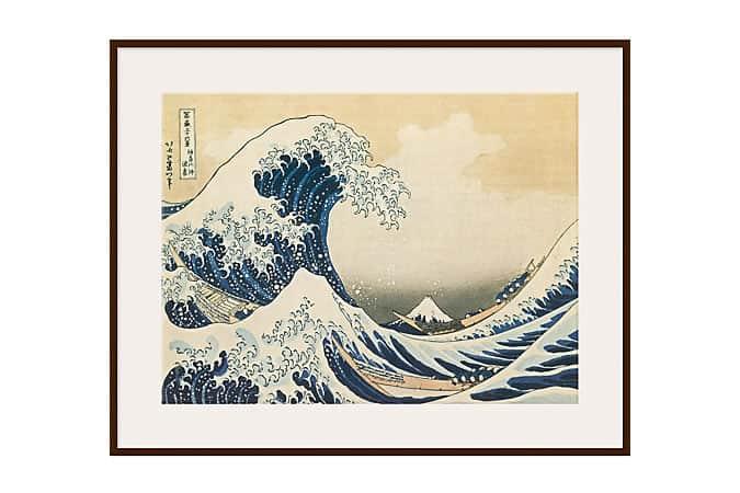 Katsushika Hokusai - La grande vague au large de Kanagawa, Light Frame