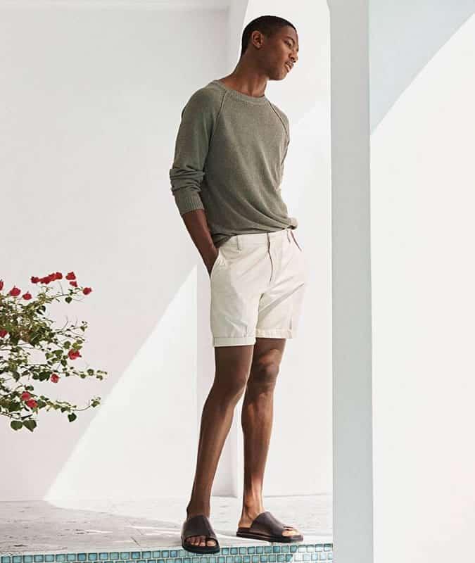 Shorts + T-shirt + tenue en tricot fin