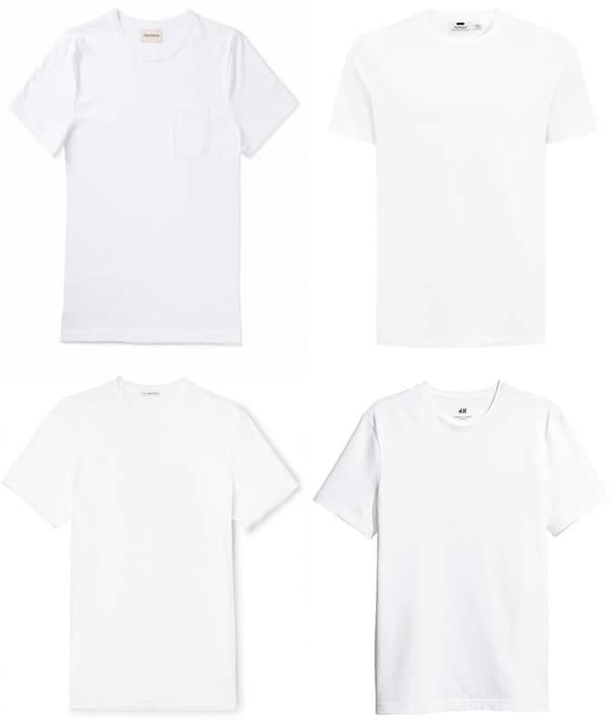 le meilleur blanc des hommes t-shirts pour l'été 2018
