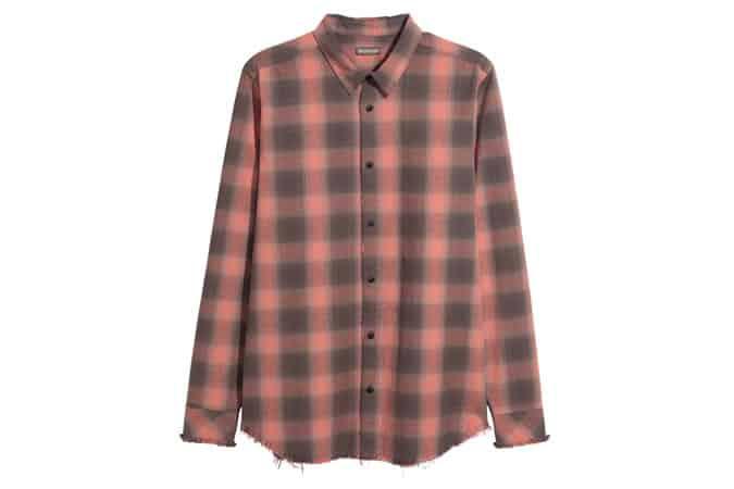 Chemise en coton à bords bruts H&M