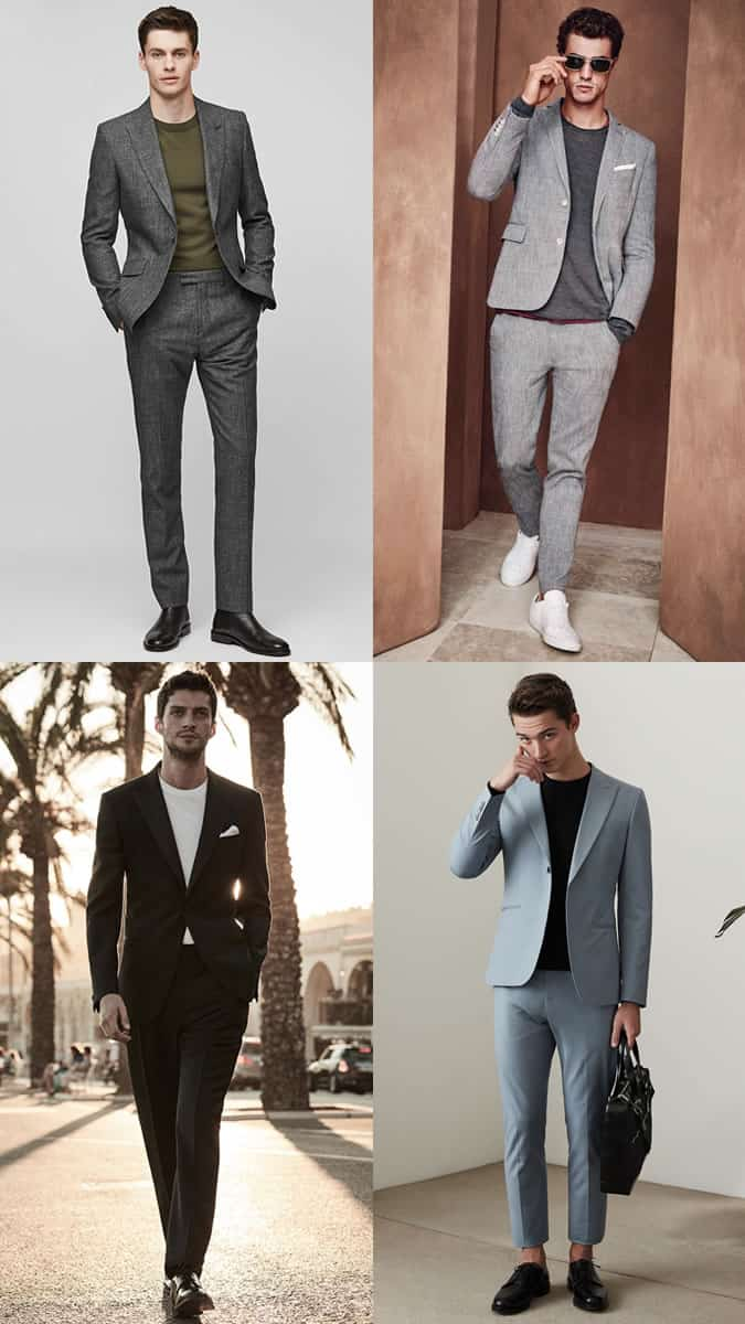 The best ways to wear t-shirts with suits