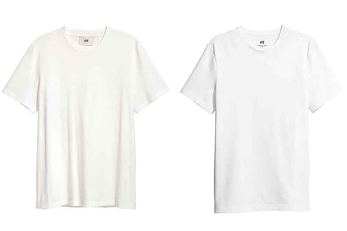 H&M Basic T-shirts blancs pour hommes