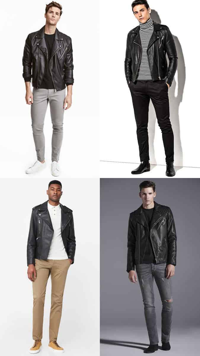how to wear a leather biker jacket