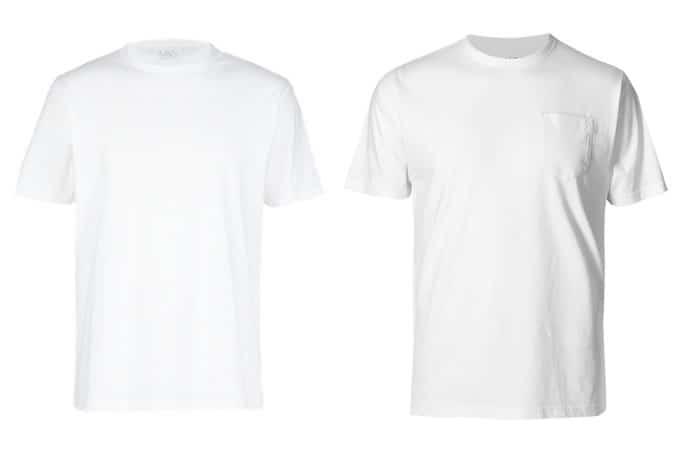 T-shirts M&S Basic pour hommes blancs
