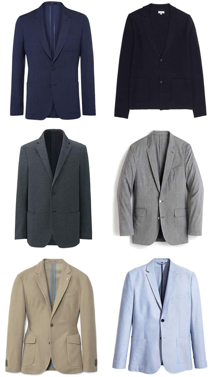 unstructured blazers for smart-casual outfits