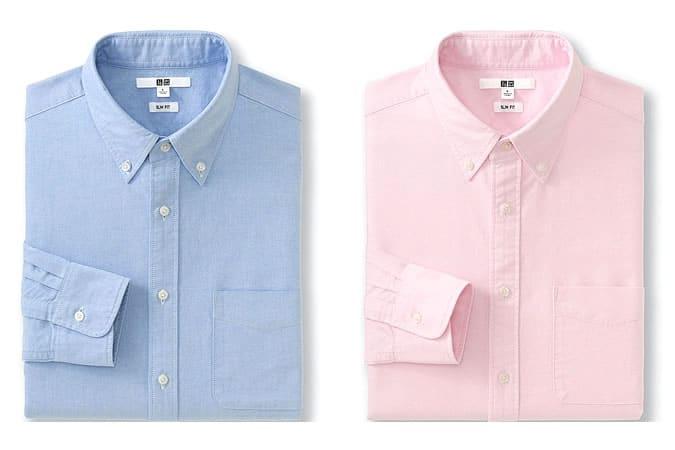 Chemises boutonnées Oxford de base pour hommes par Uniqlo