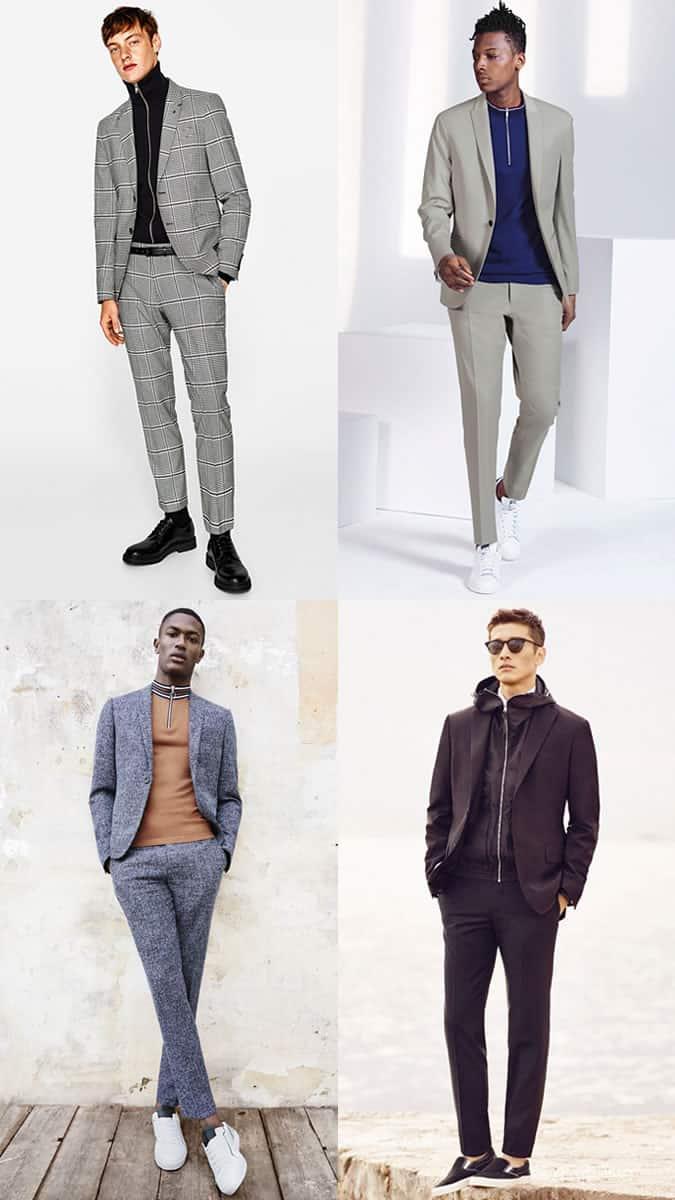 comment porter un haut de survêtement sous une veste de costume