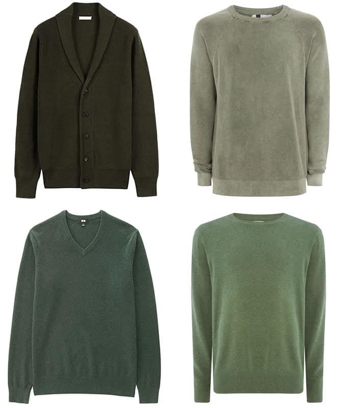 les meilleurs tricots verts pour hommes