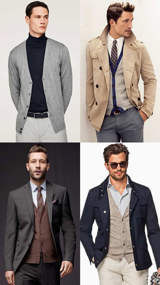 How to wear a cardigan for men
