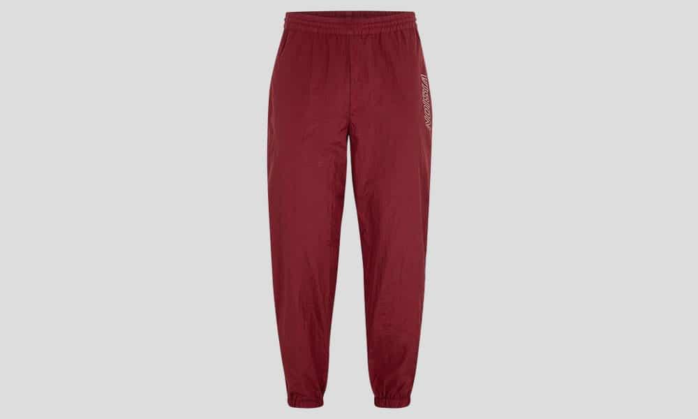 Pantalon de survêtement en nylon bordeaux VISION STREET WEAR