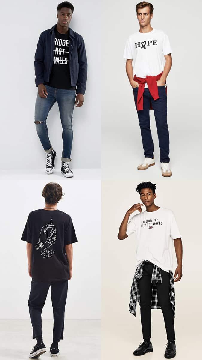 Comment porter des t-shirts à slogan de manière élégante