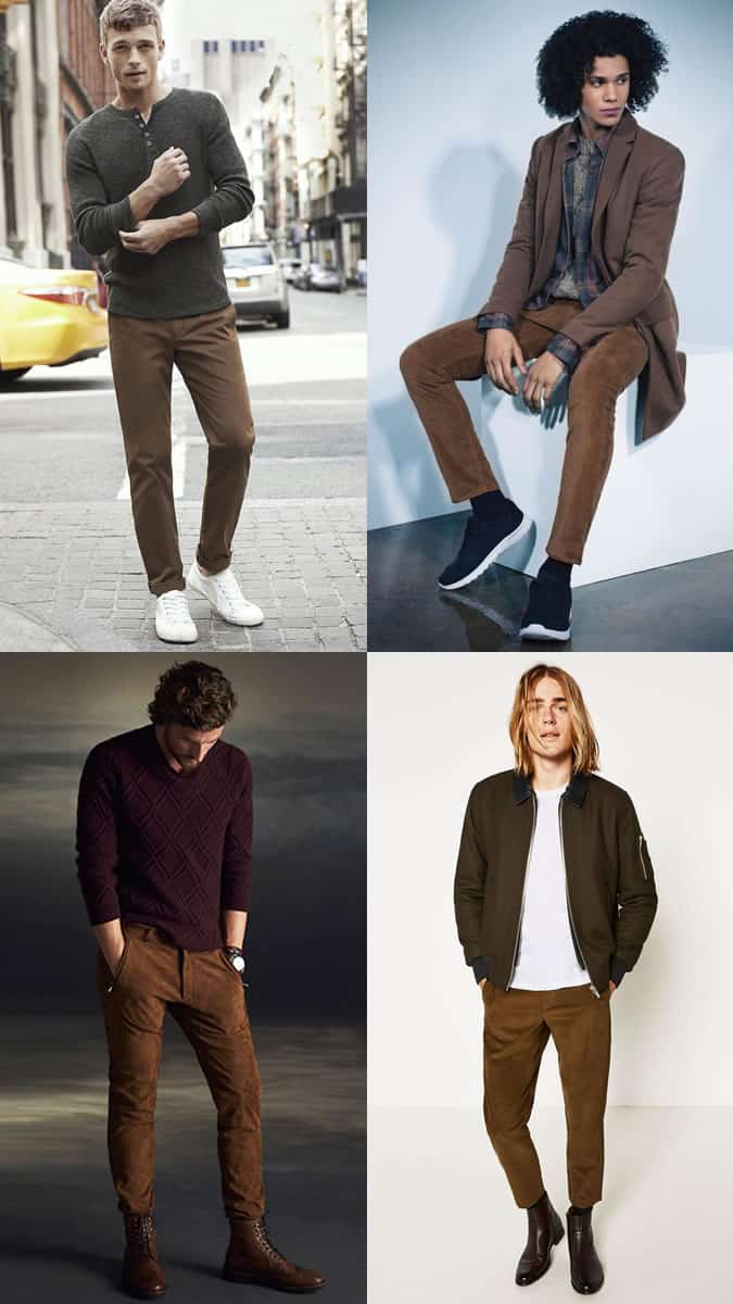 the best ways to wear brown trousers
