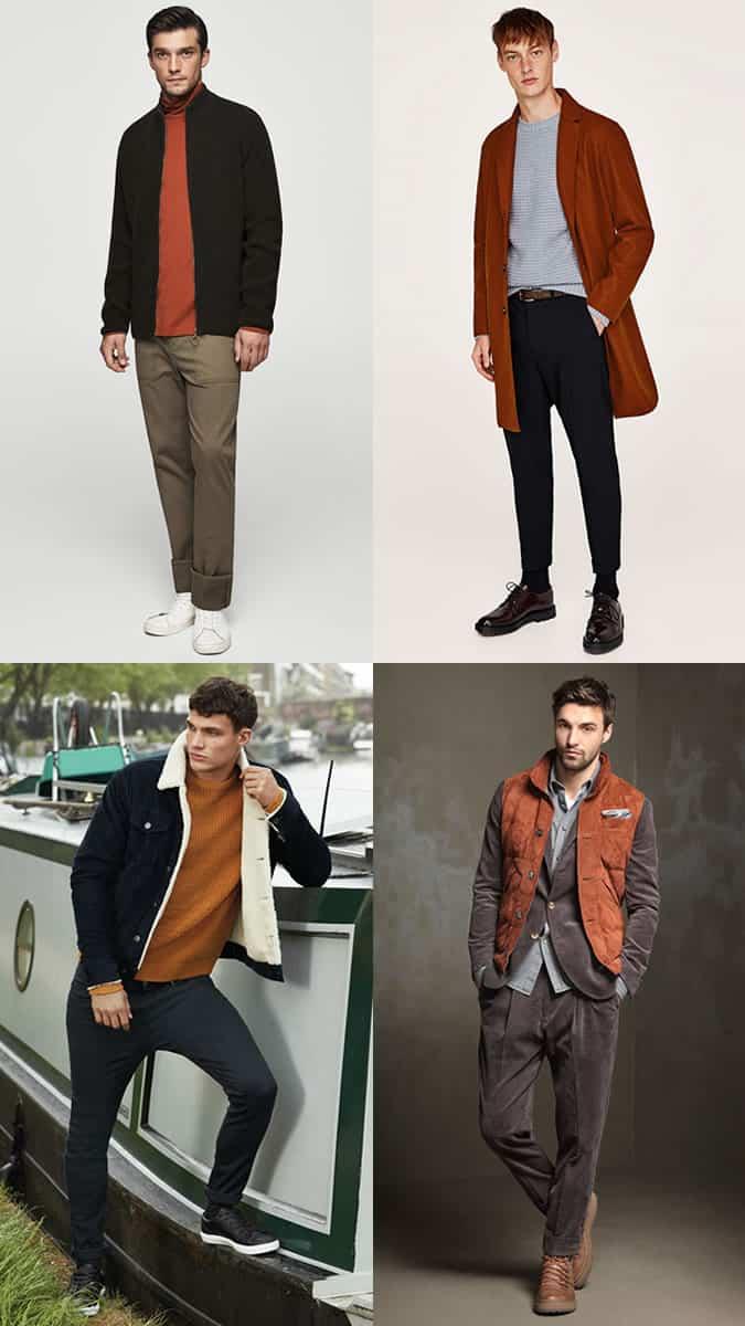 how to wear burnt orange menswear
