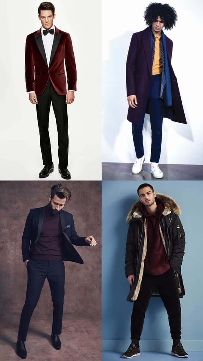 comment porter des vêtements pour hommes couleur vin