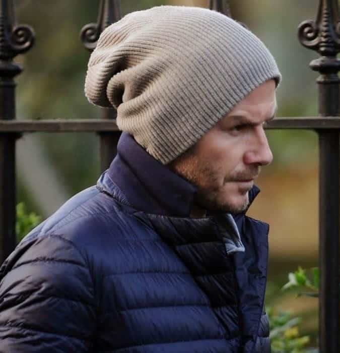 Bonnet oversize David Beckham