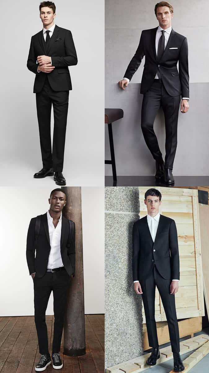 How To Wear A Black Suit And White Tie