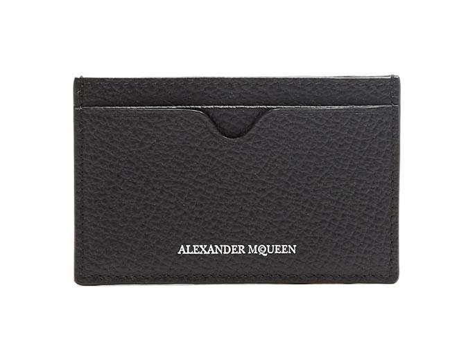Porte-cartes en cuir Alexander McQueen