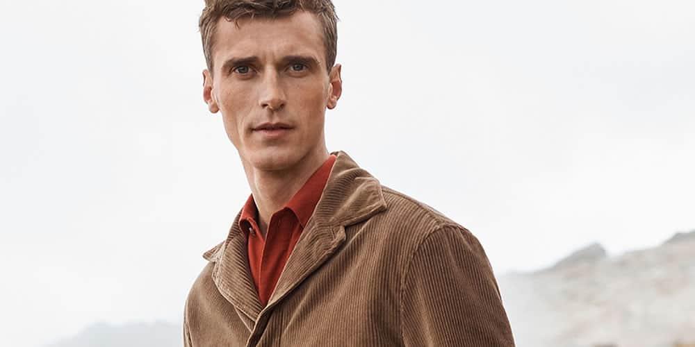 Vêtements en velours côtelé pour hommes