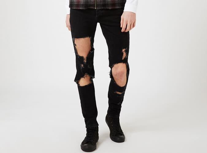 Jeans déchirés