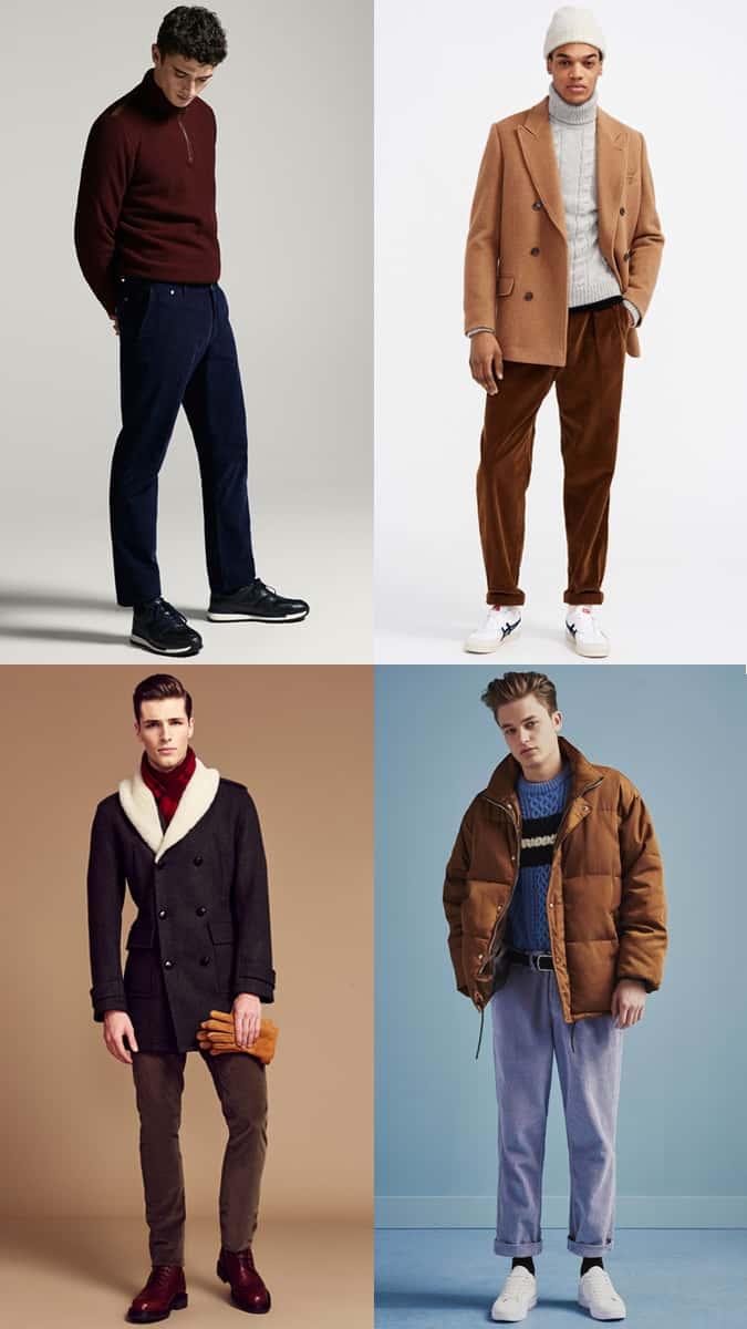Comment les hommes devraient porter des pantalons / pantalons en velours côtelé