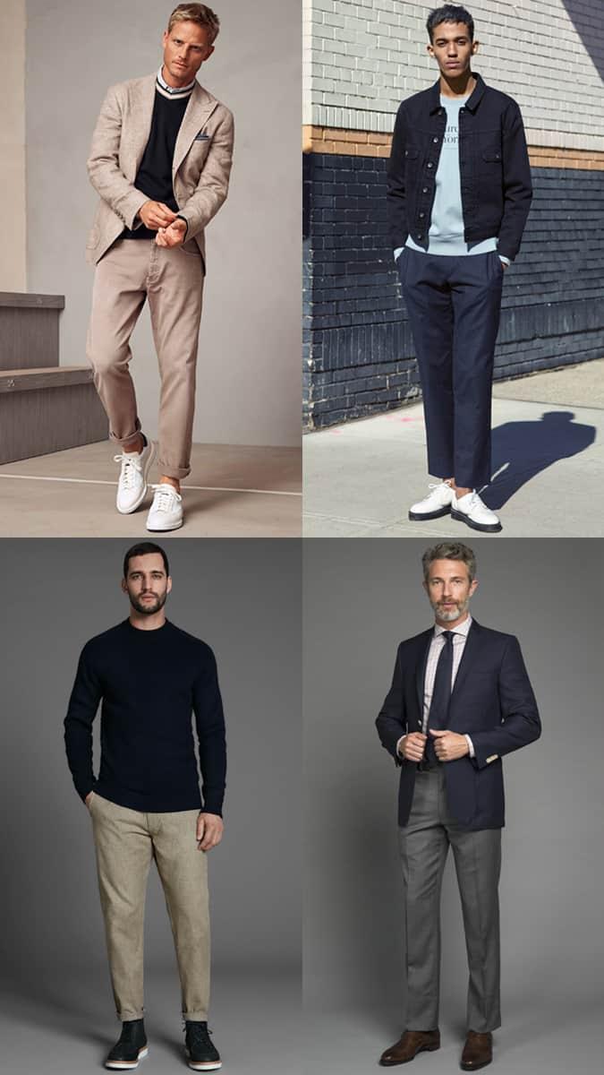 Pantalons droits pour hommes
