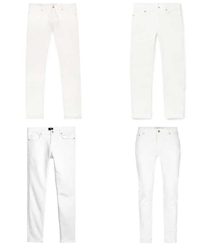Le meilleur jean blanc pour homme