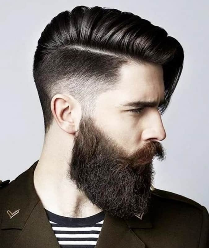 Men's Comb Over Drop Fade Long Side Sweep Hairstyle
