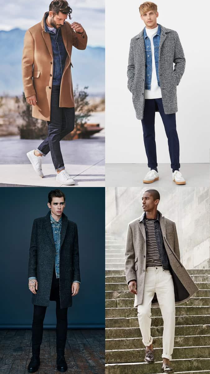Comment porter une veste en jean sous un pardessus