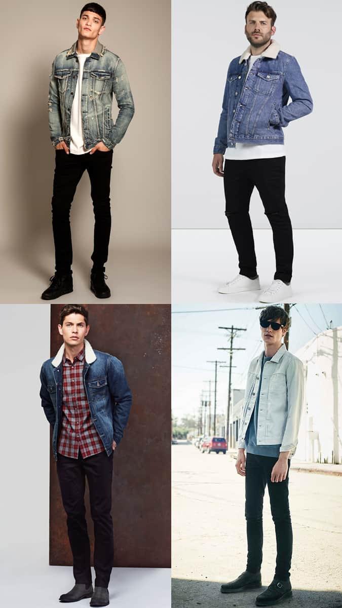 Comment porter une veste en jean avec un jean noir