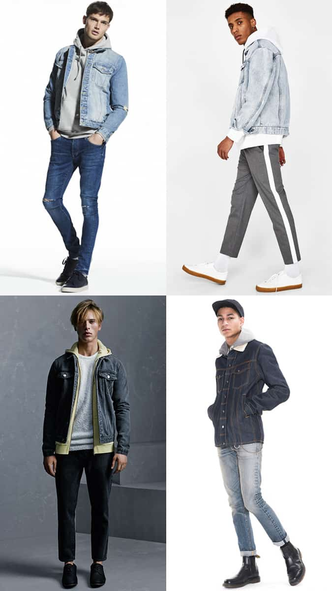 How To Wear A Denim Jacket With A Hoodie