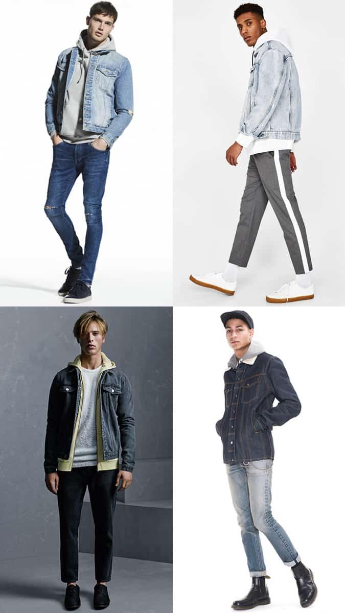 Comment porter une veste en jean avec un sweat à capuche
