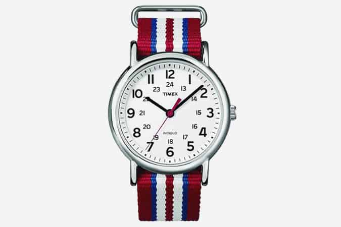 Montre à Quartz Timex Special Weekender Slip Through avec affichage analogique et bracelet en nylon