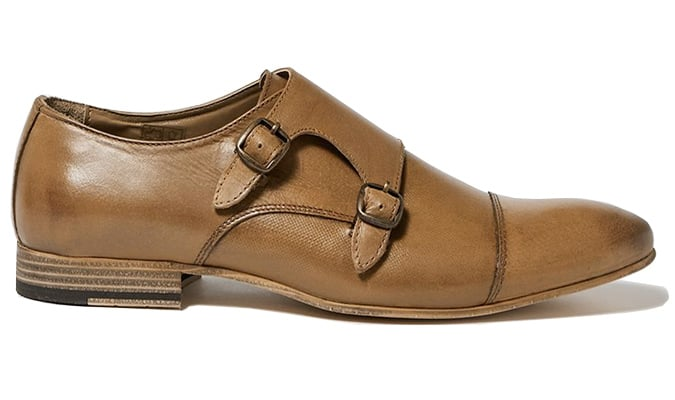 Chaussures Luther Monk en cuir marron clair