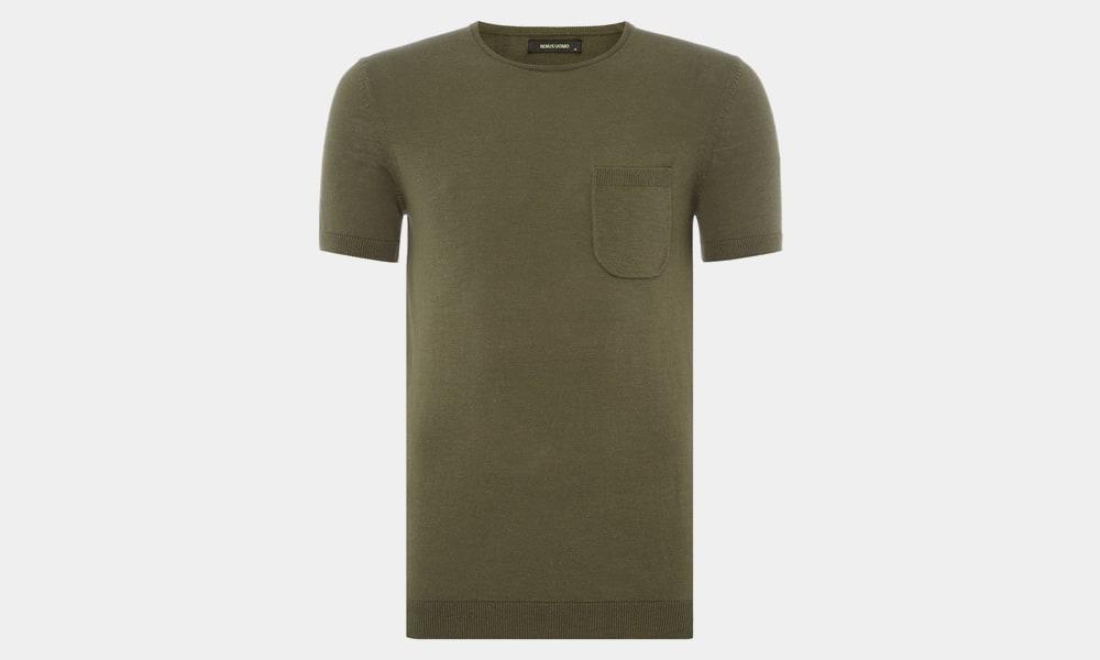 T-shirt en coton coupe fuselée