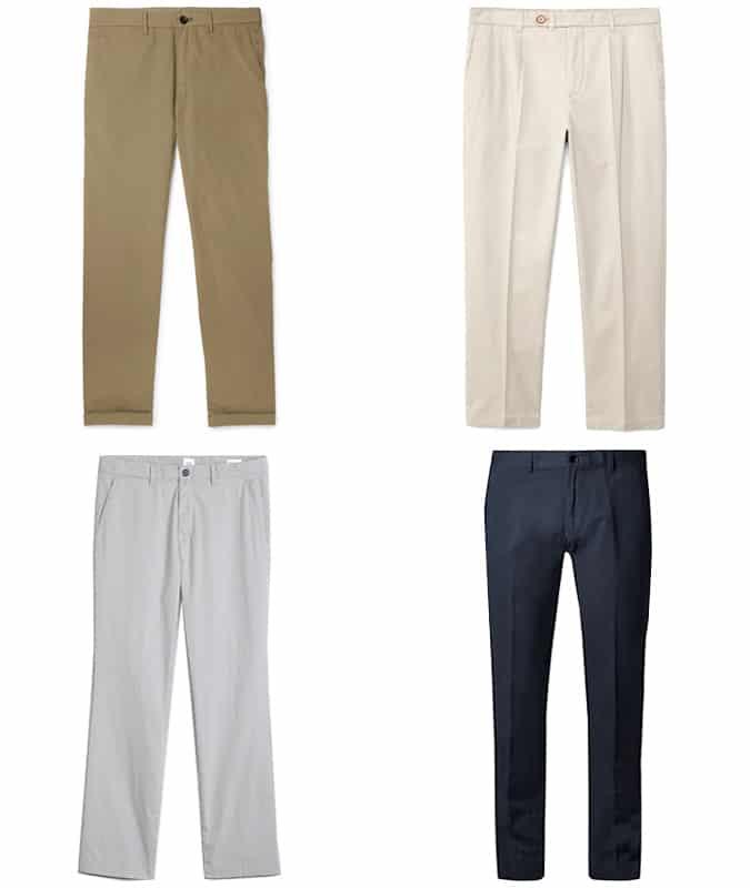 Les meilleurs pantalons droits pour hommes