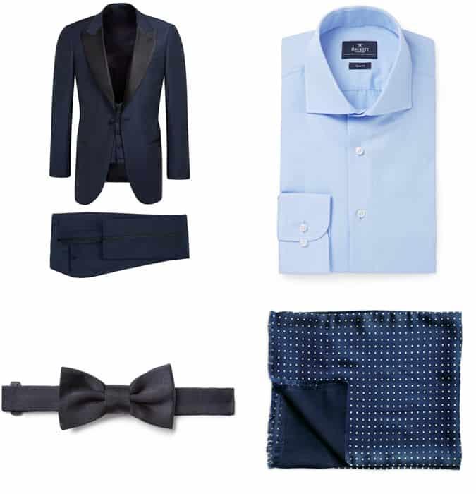 Comment porter un complet bleu
