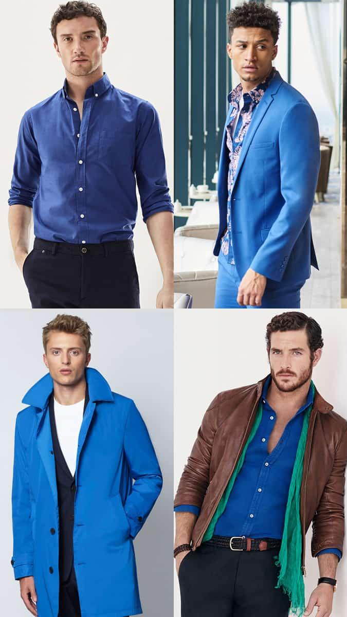 Comment porter du bleu cobalt pour homme en été