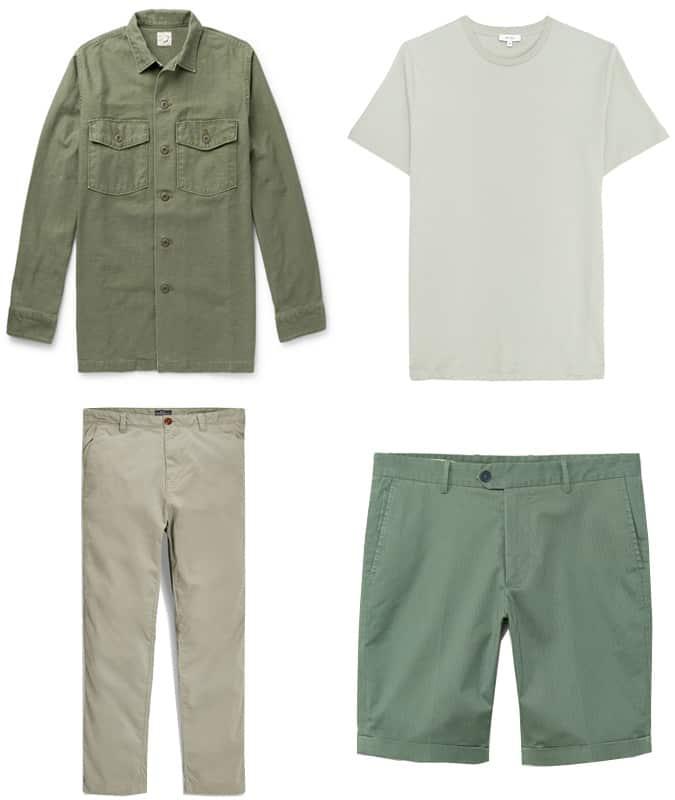 Le meilleur vêtement militaire et vert sauge pour homme