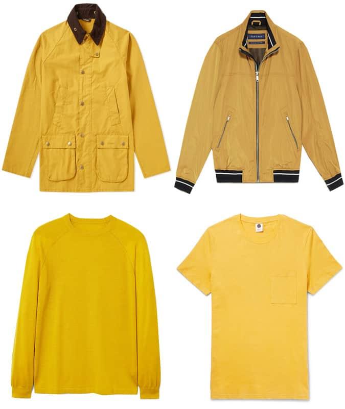Les meilleurs vêtements jaunes pour hommes