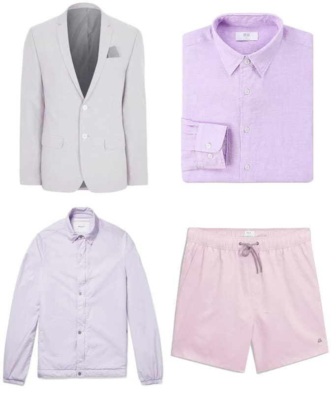 Les meilleurs vêtements d'été pour hommes violets